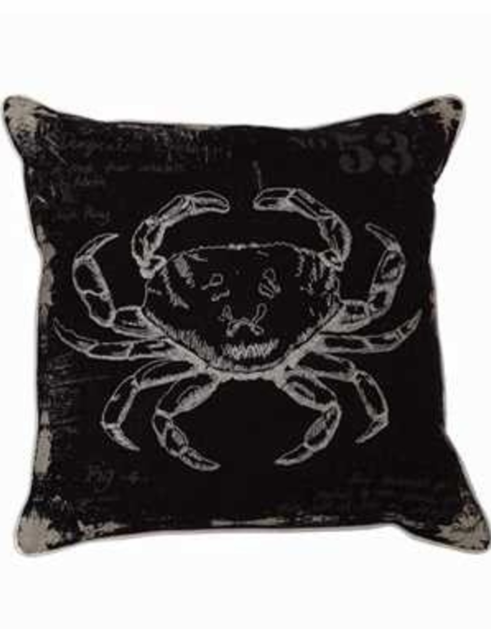 Black and White Crab Pillow