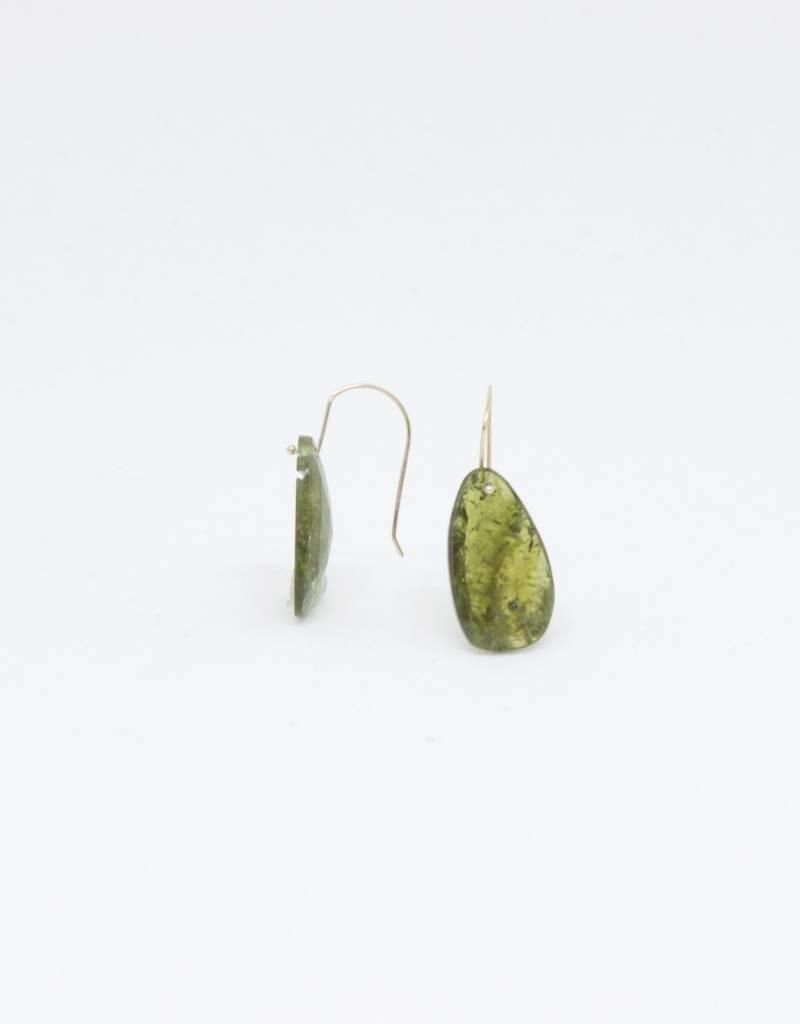 Bruml Design Green Quartz Organic Earring