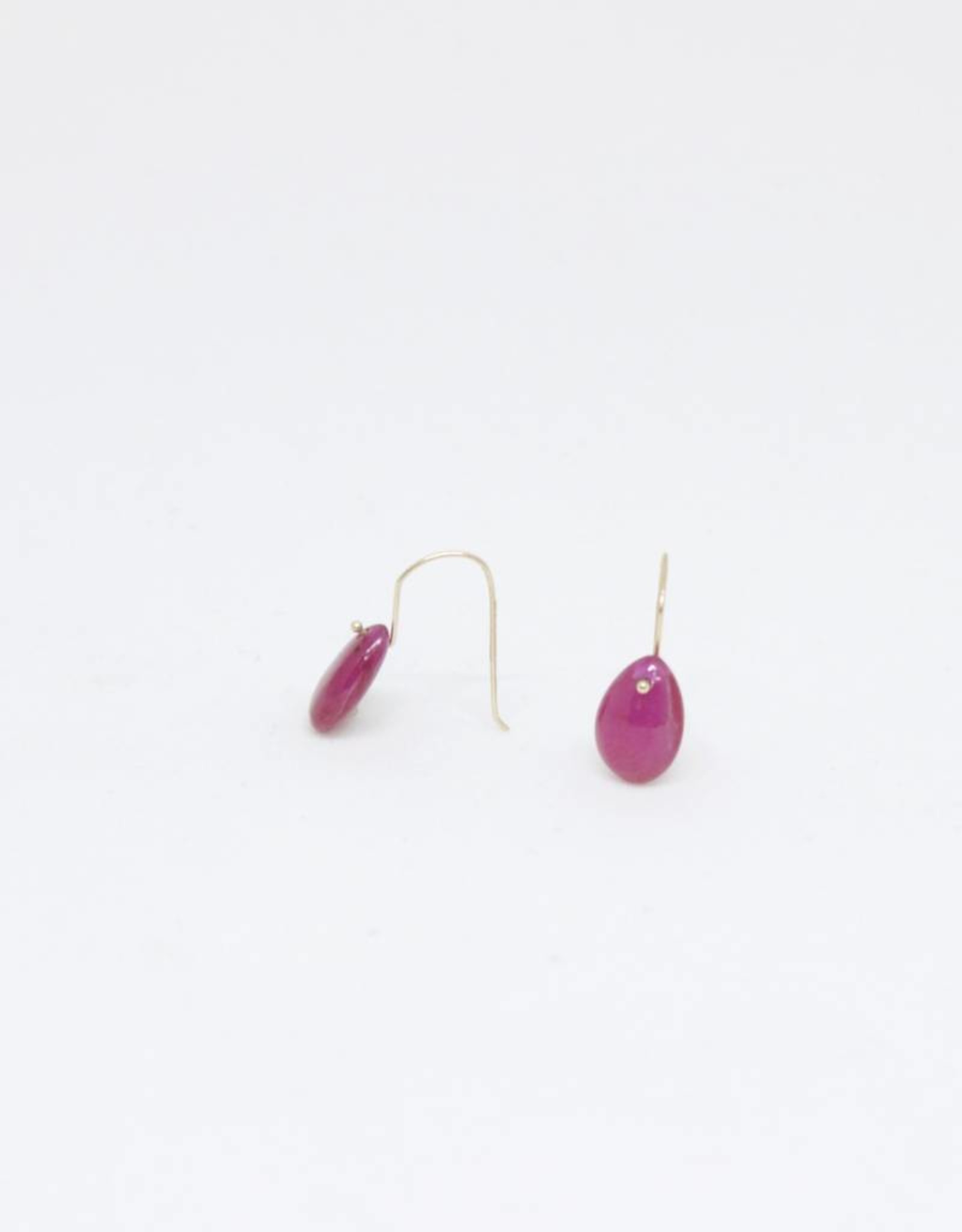 Bruml Design Ruby Teardrop Earring