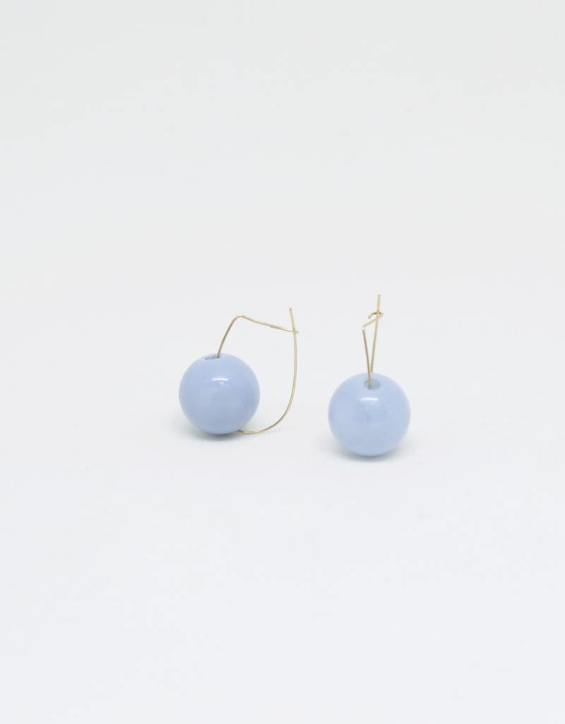 Bruml Design Chalcedony Ball Earring