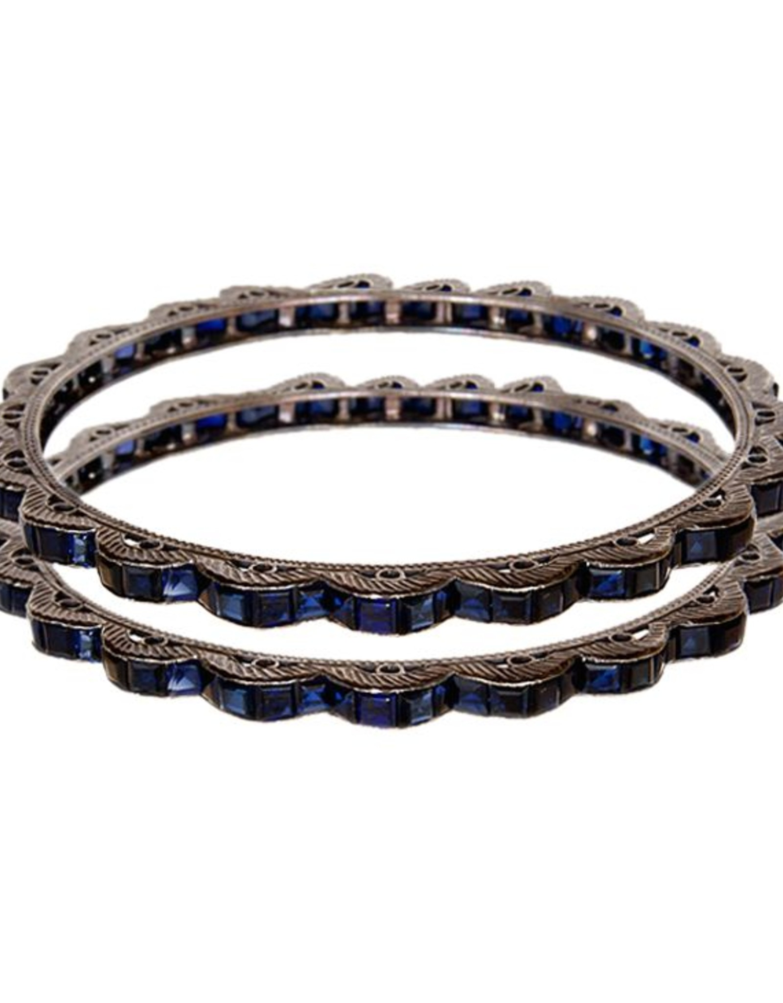 Himatsingka Sophia Blue Scalloped Bangle