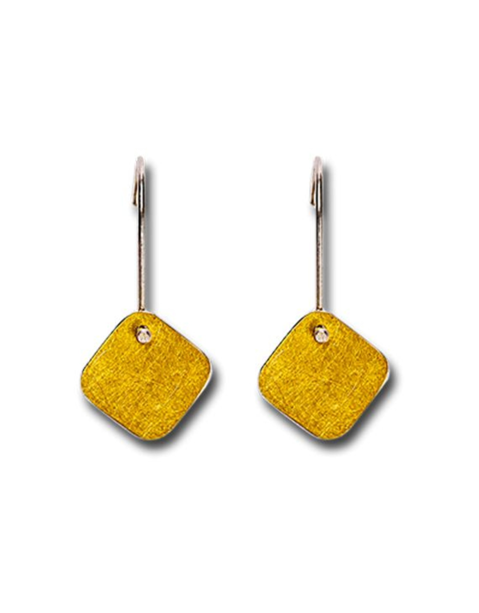 Himatsingka Abstract Gold Square Hook Earrings