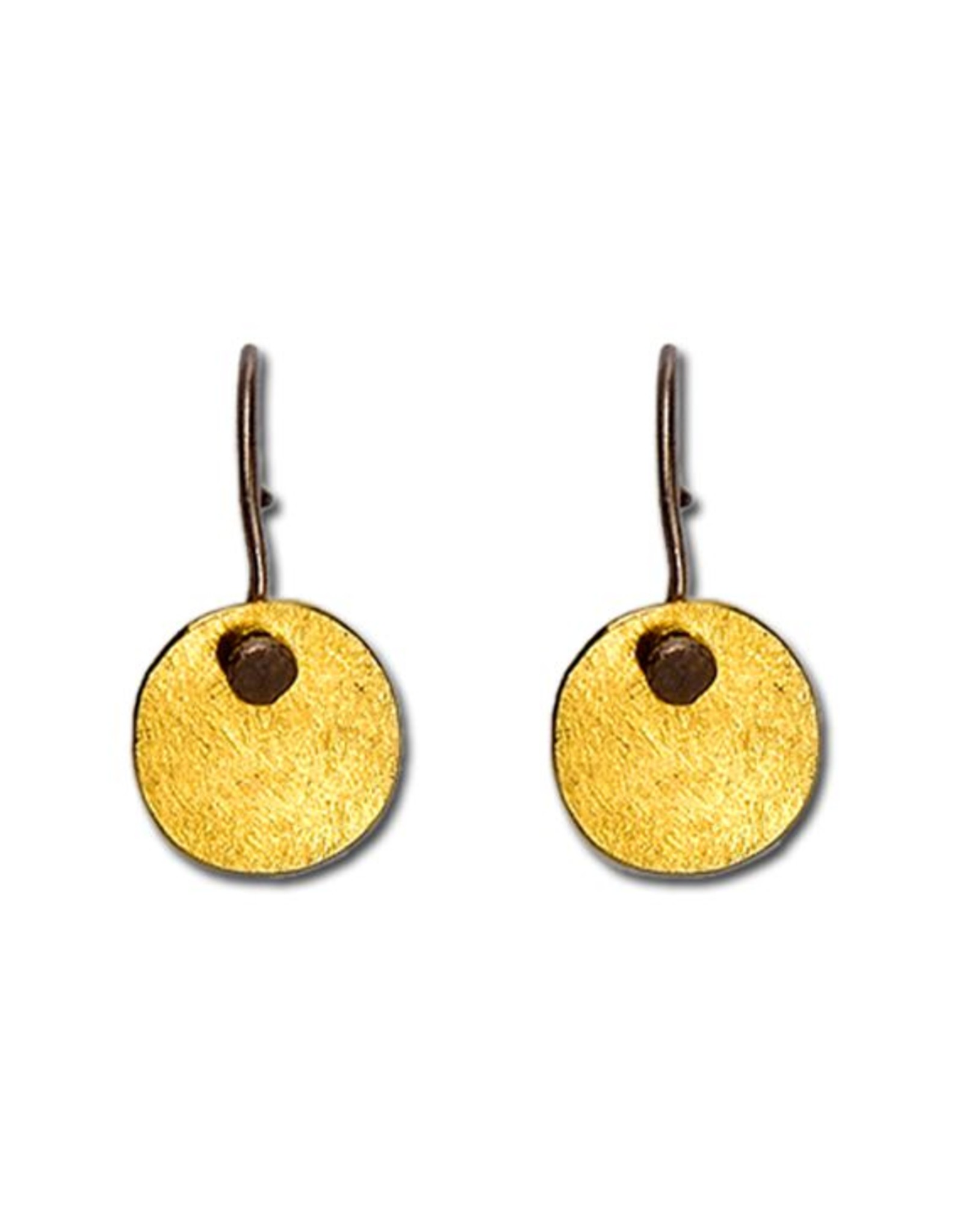 Himatsingka Abstract Gold Oval Hook Earrings
