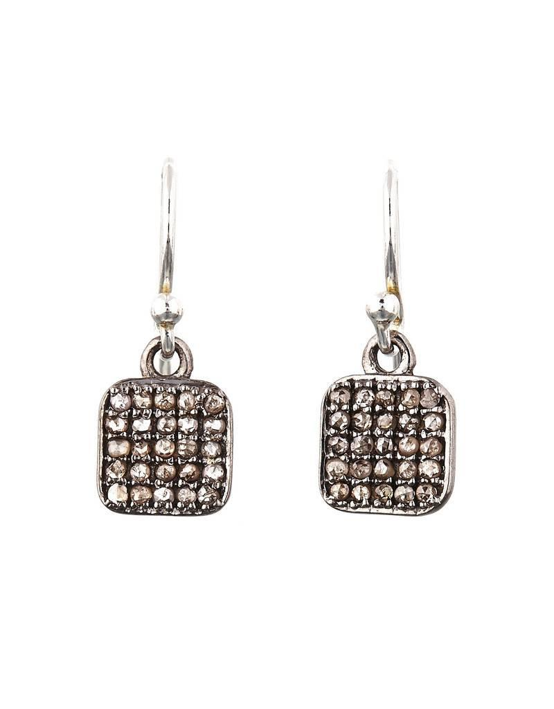 Avindy Pave Diamond Square Earrings