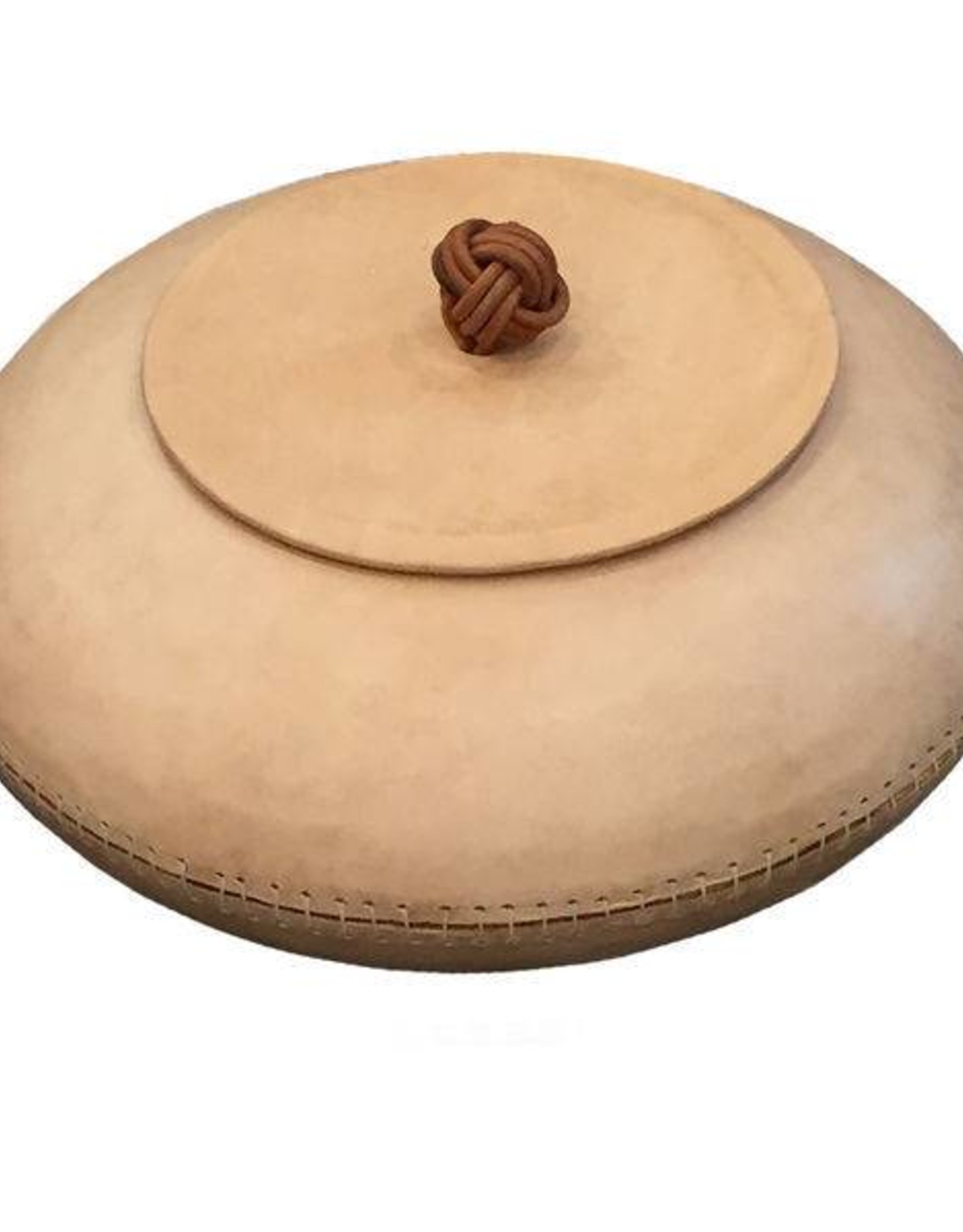 MooMoo Designs Knot Lid Bowl - Natural Leather