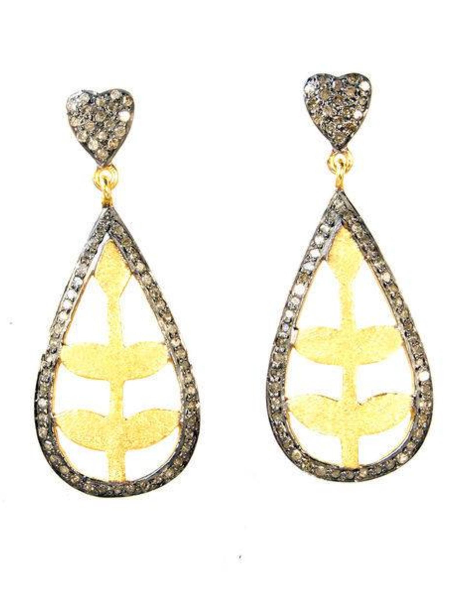 MooMoo Designs Summer Floral Earrings