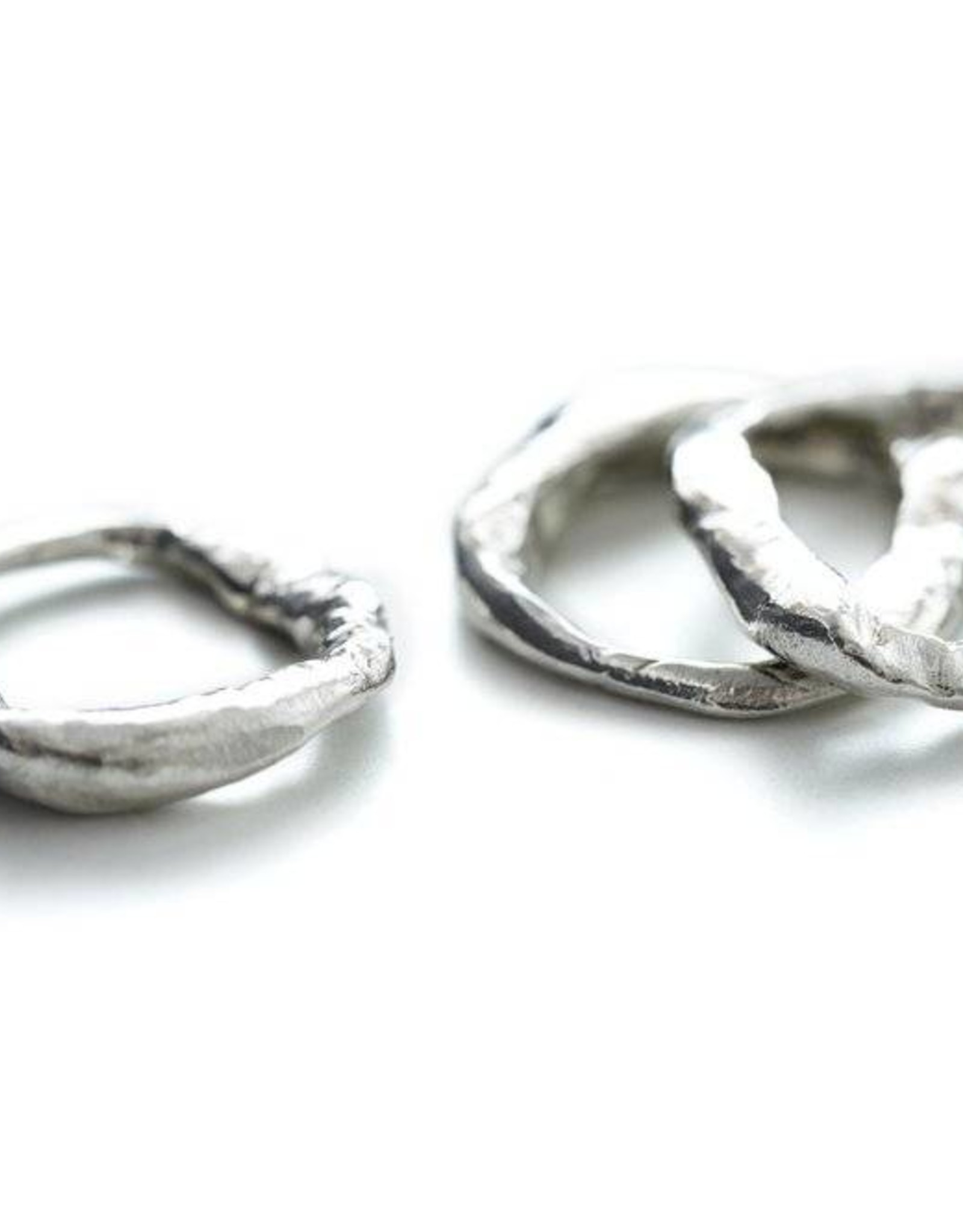 Chikahisa Studio Sterling Silver Stone Stacking Ring