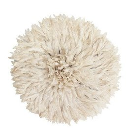 Kiondo White Juju Feathered Hat