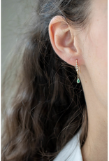 Celine Daoust Faceted Green Sapphire Drop Earrings