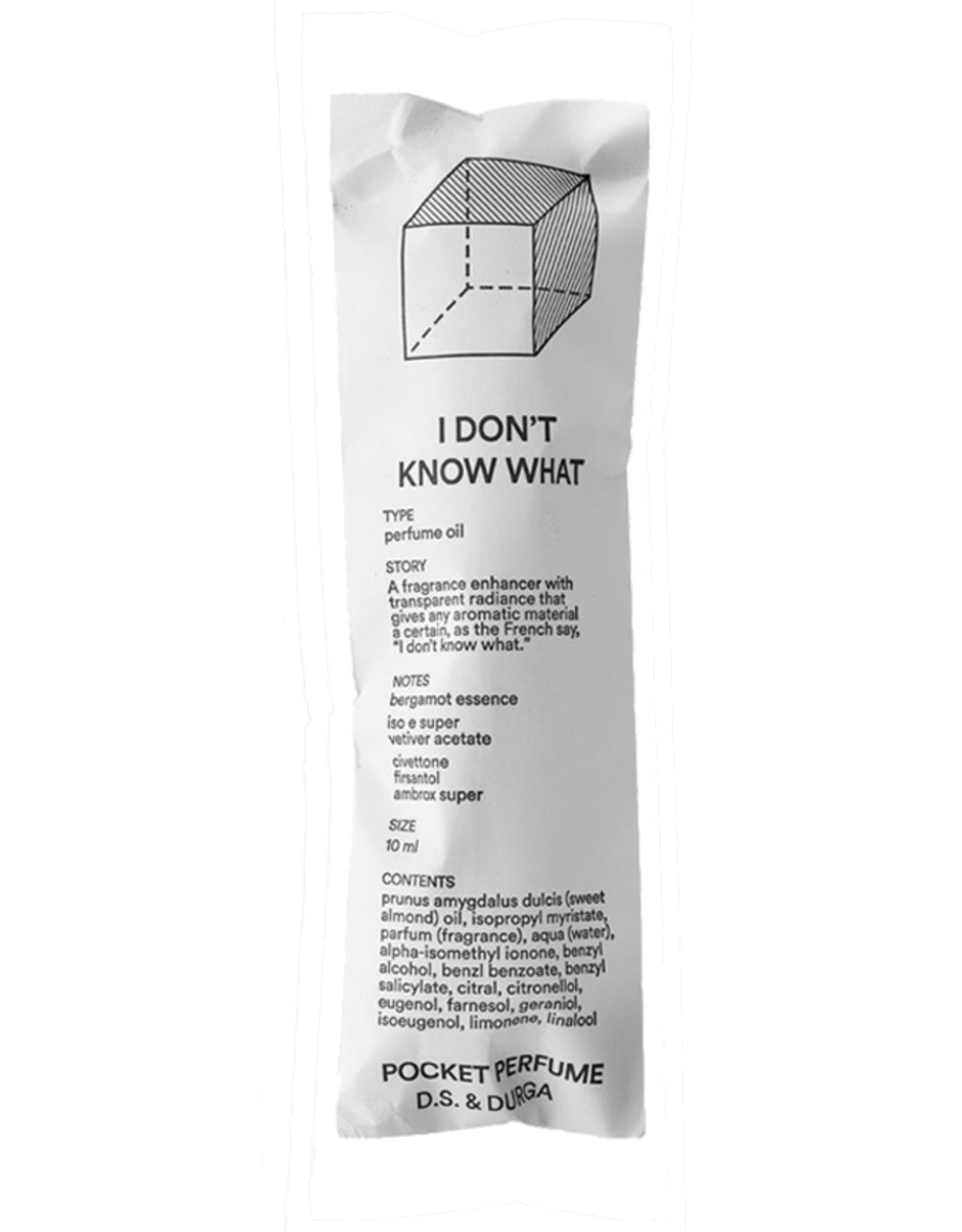 D.S. & DURGA I Don't Know What - Pocket Perfume - 10mL