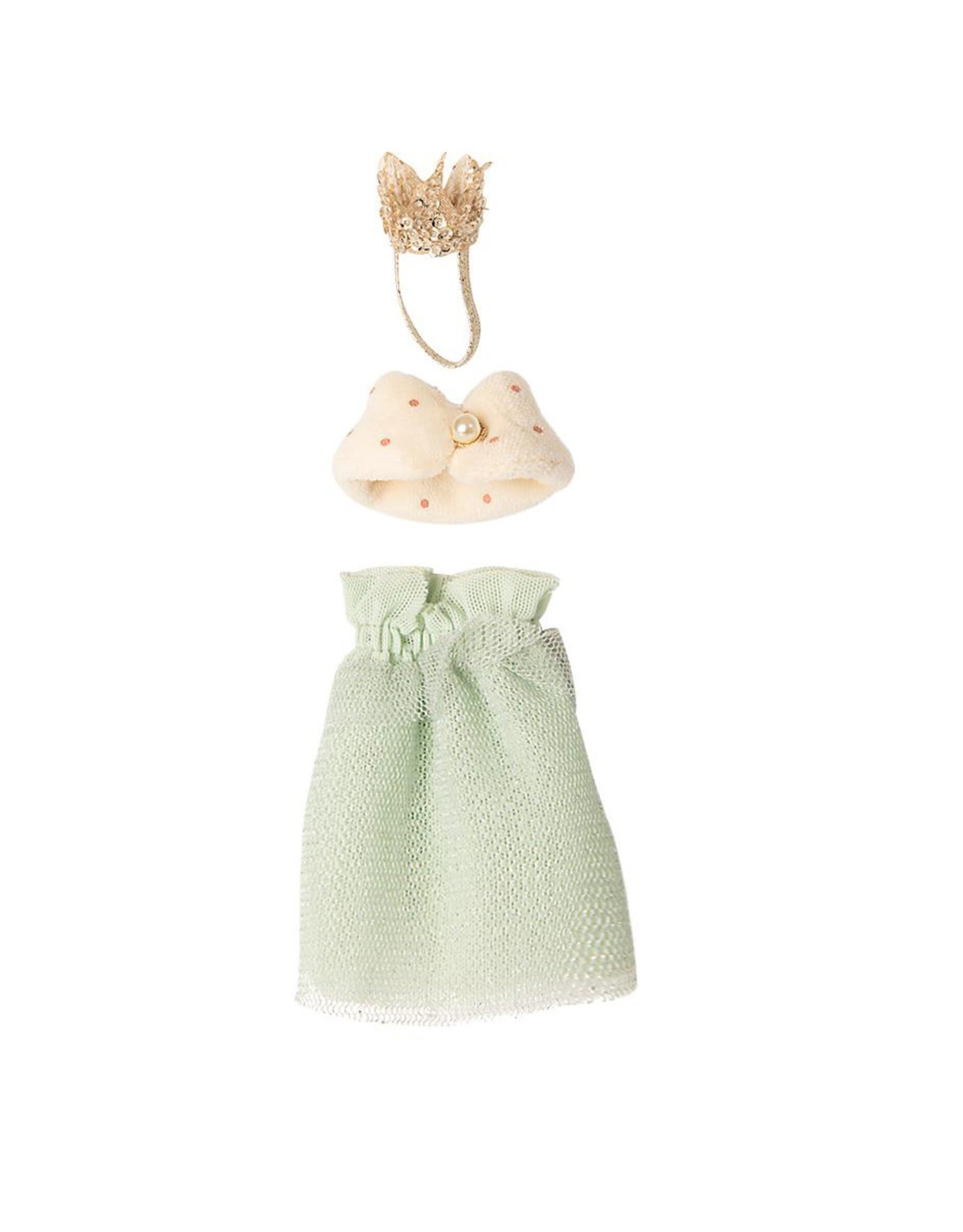 Maileg Queen Outfit - Mint Dress and Shawl