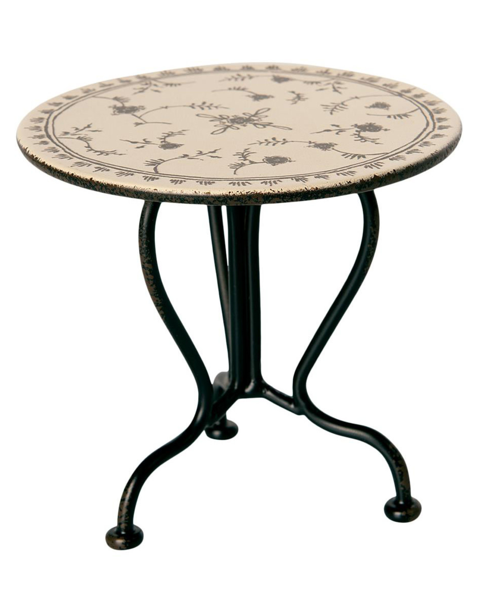 Maileg Vintage Micro Tea Table - Anthracite