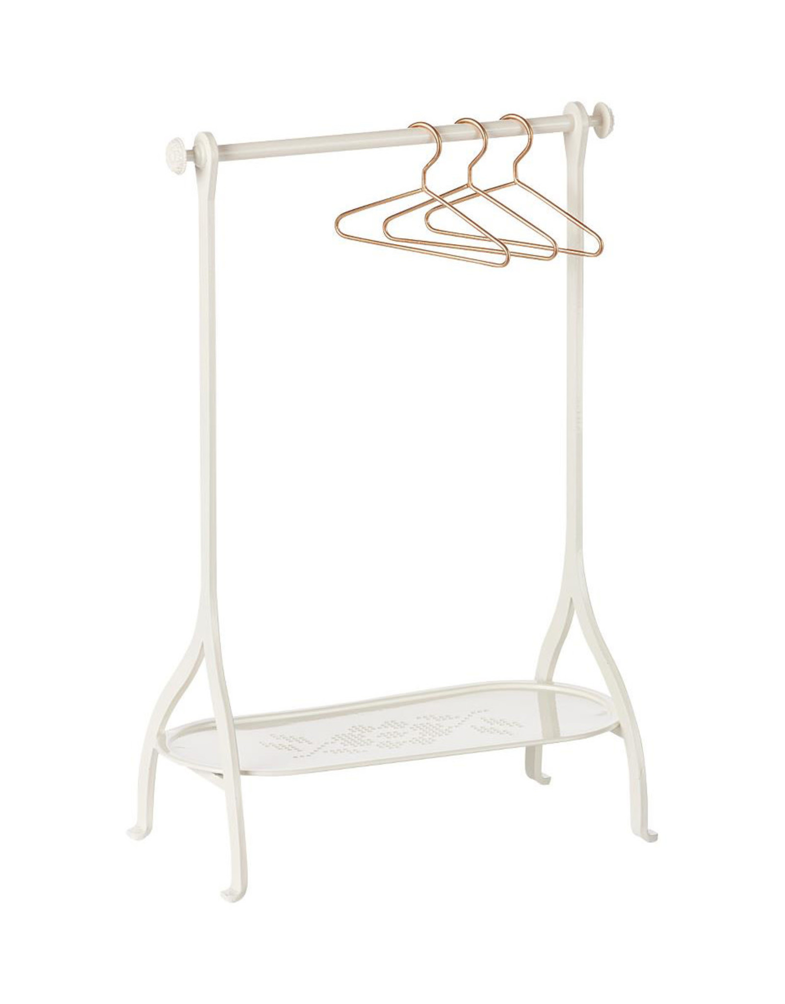 Maileg Clothes Rack + 3 Hangers - Off White