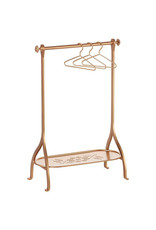 Maileg Clothes Rack + 3 Hangers - Gold