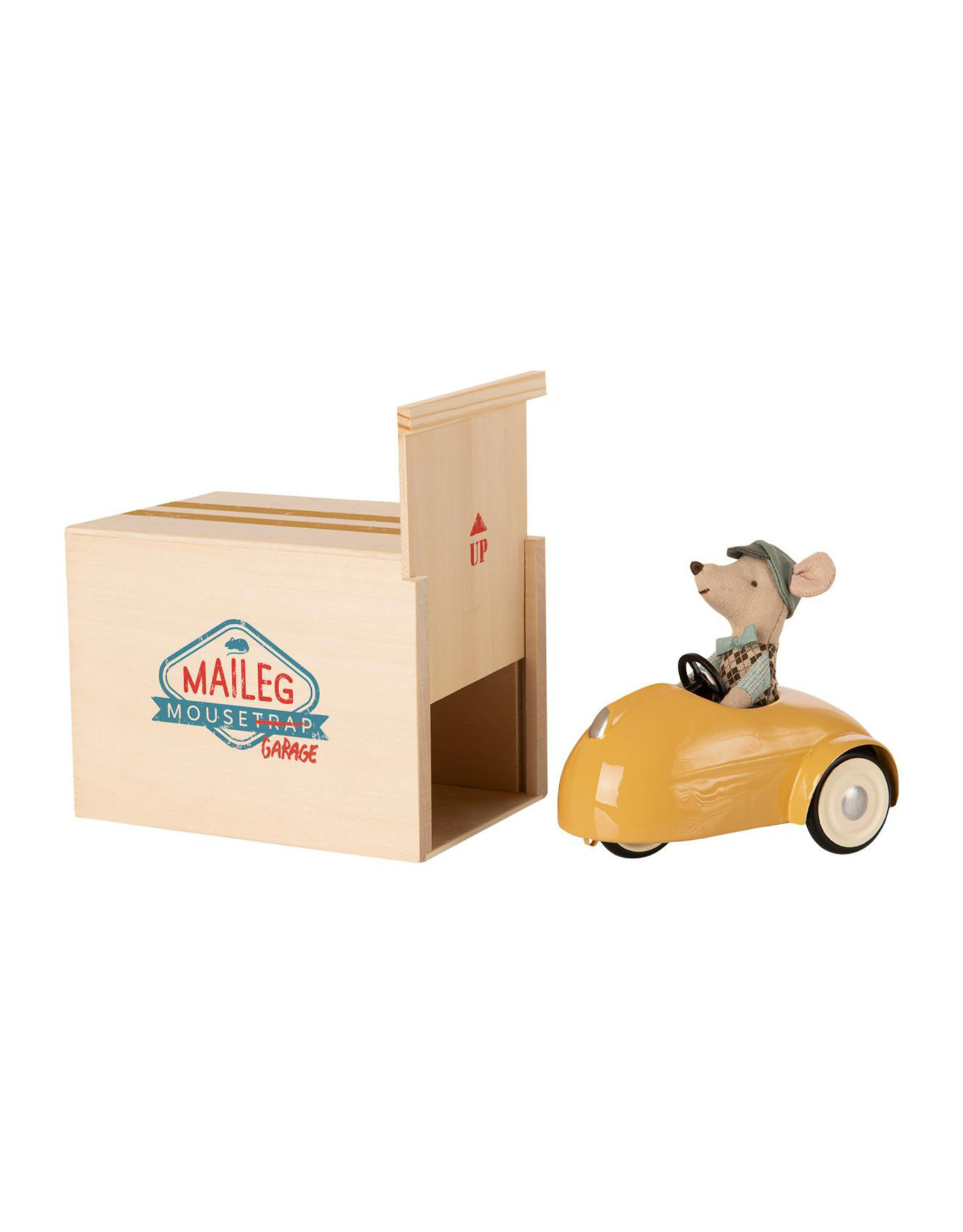 Maileg Mouse Car + Garage - Yellow