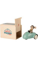Maileg Mouse Car + Garage - Blue
