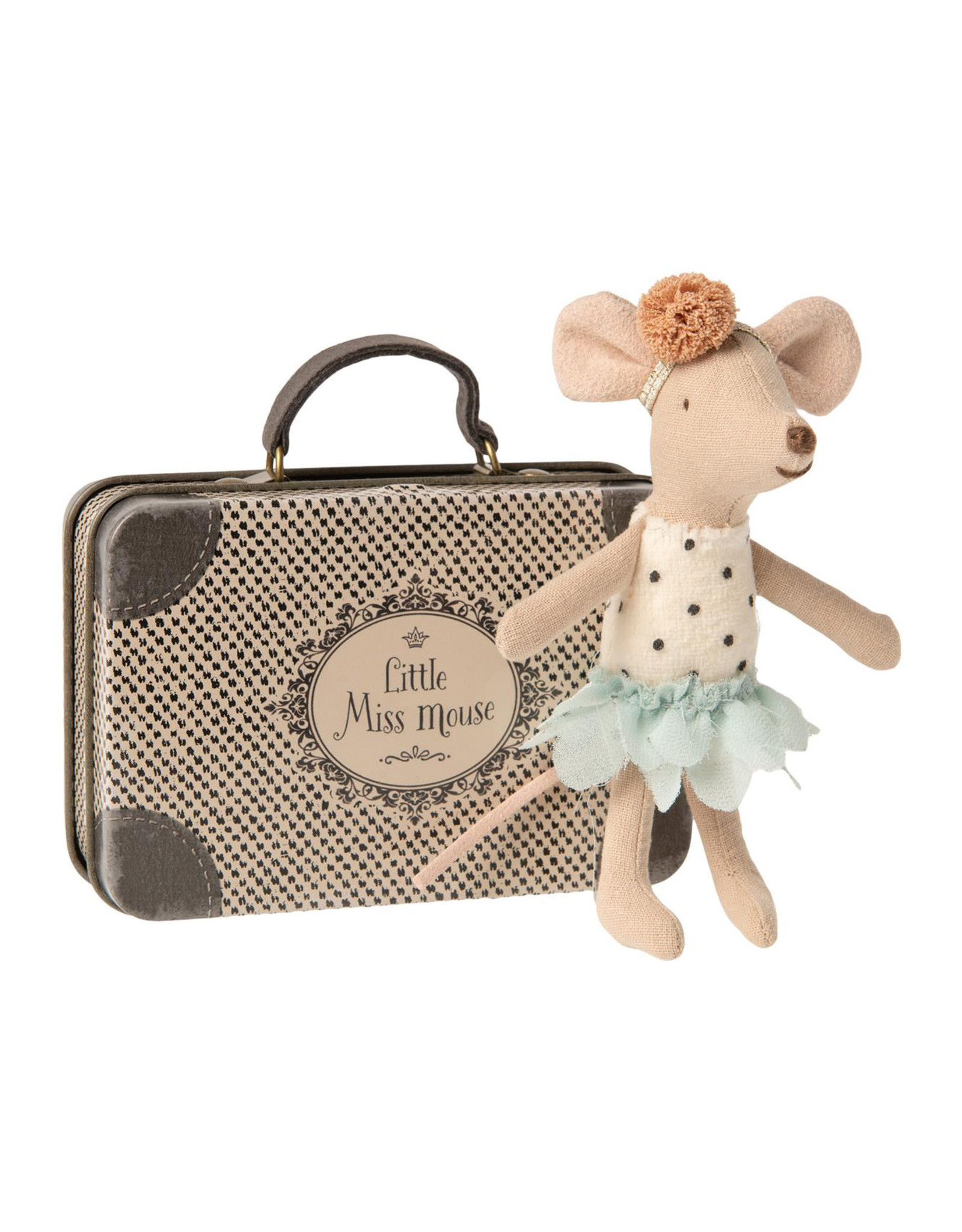 Maileg Little Miss Little Sister Mouse in Suitcase