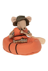 Maileg Mouse Rubber Boat - Orange