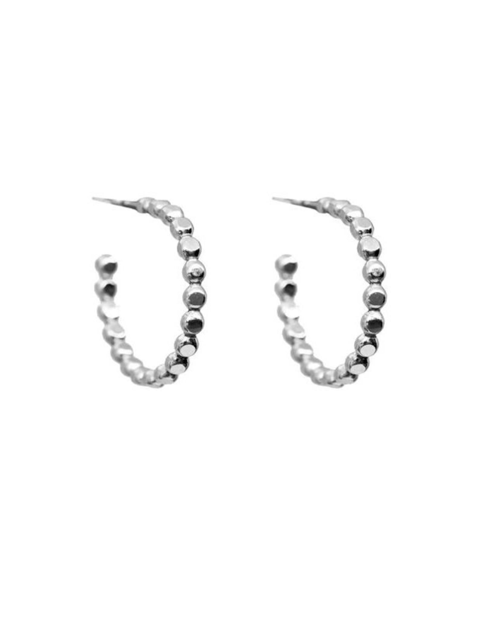 Hart + Stone Sprinkle Hoops - Silver