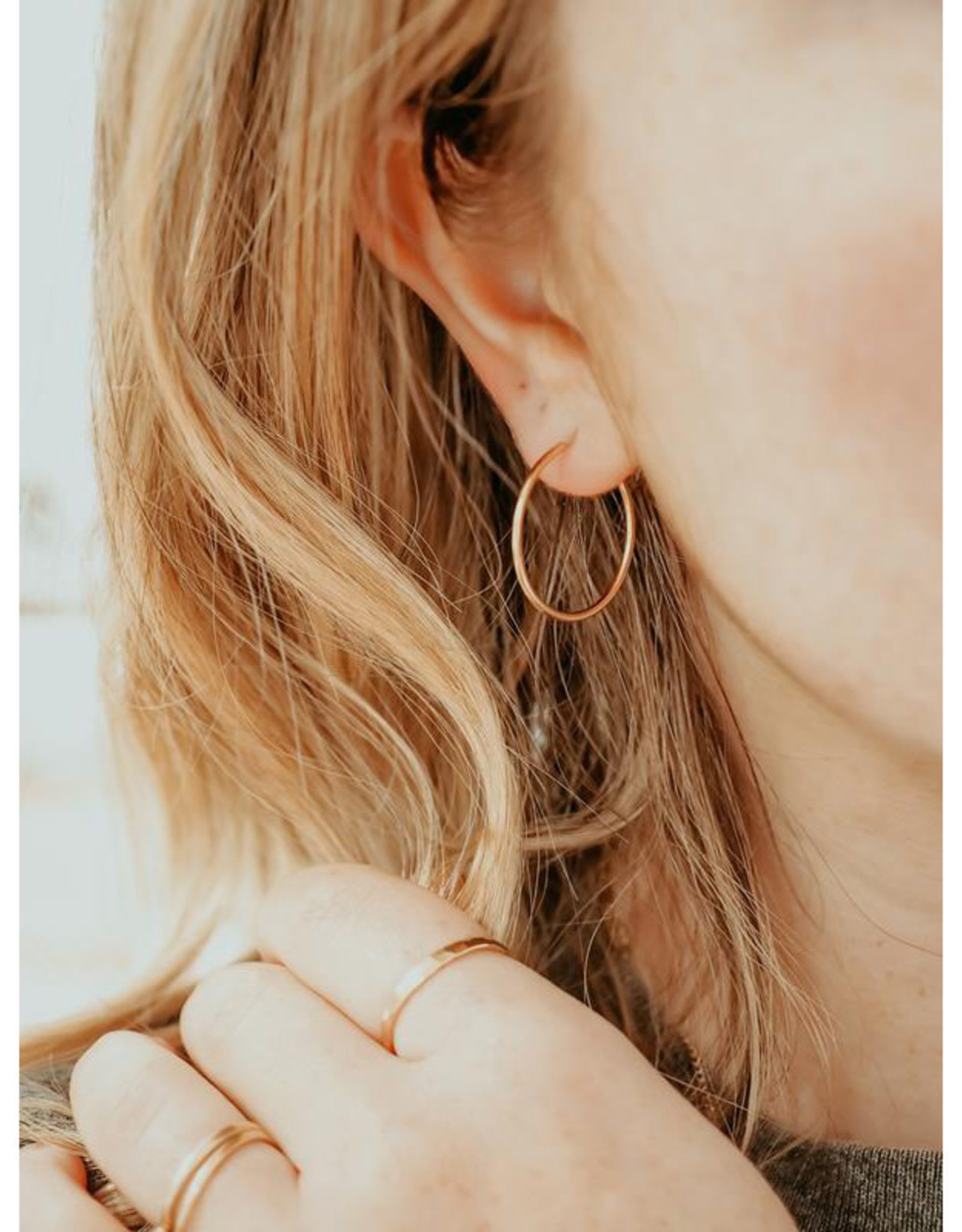 Hart + Stone Silver Ibex Hoops - Large