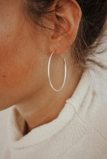 Hart + Stone Silver Ibex Hoops - Extra Large
