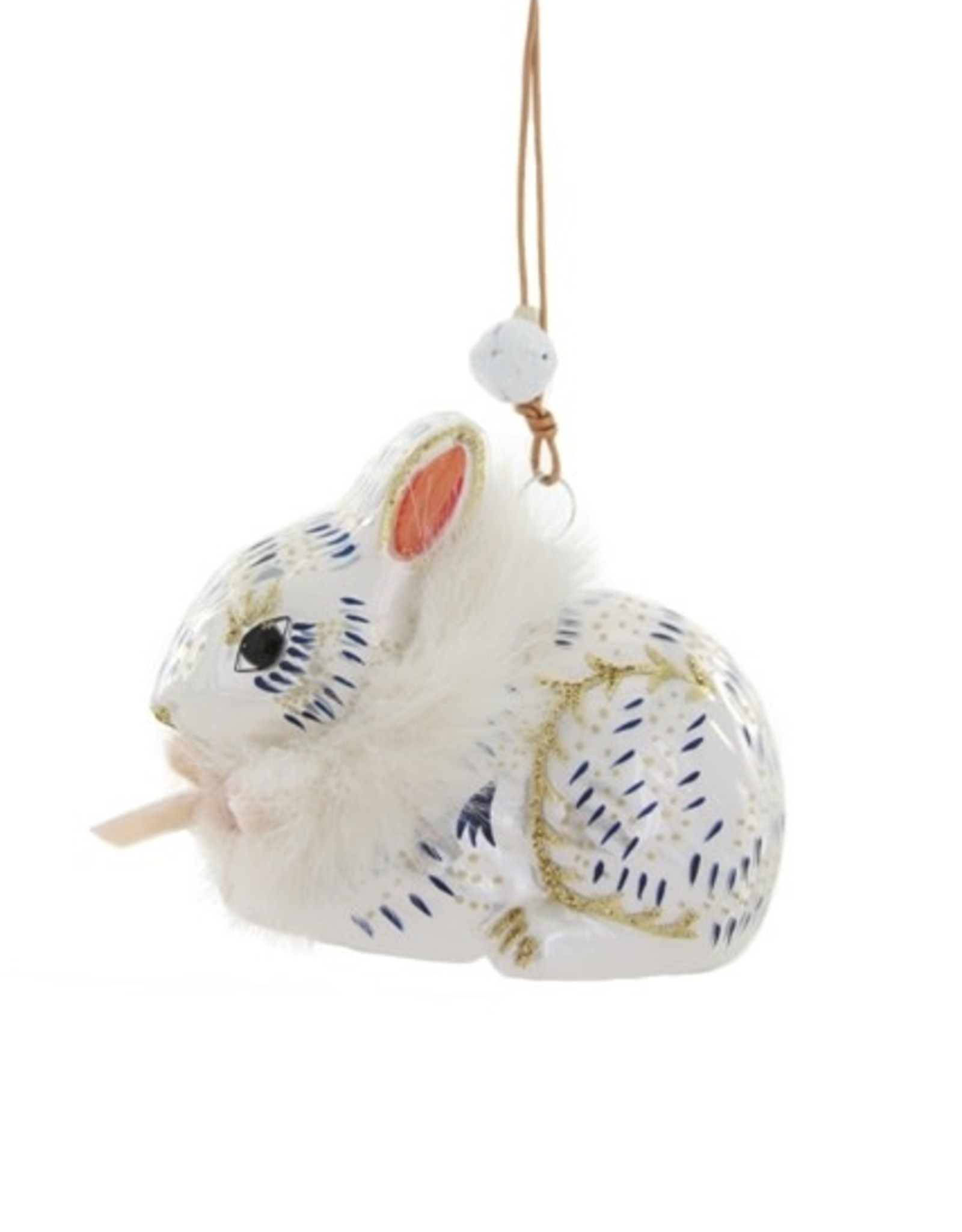 Cody Foster & Co. FROSTED THICKET BUNNY ORNAMENT