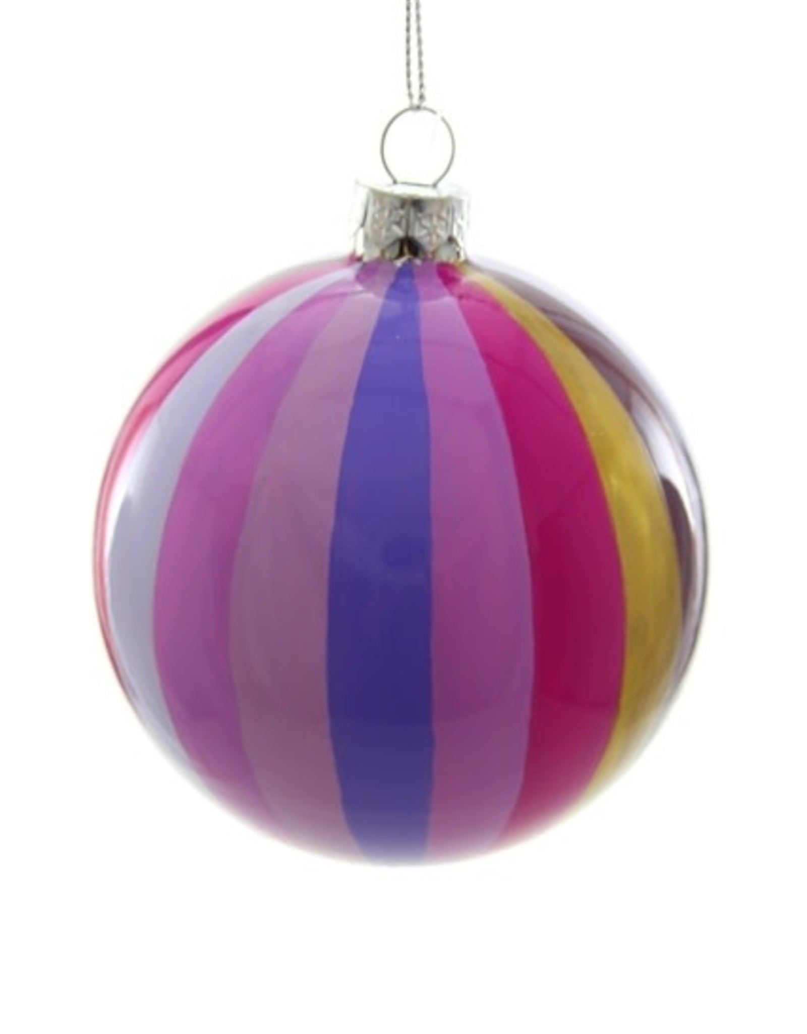 Cody Foster & Co. TONAL PINWHEEL BAUBLE ORNAMENT - PURPLE