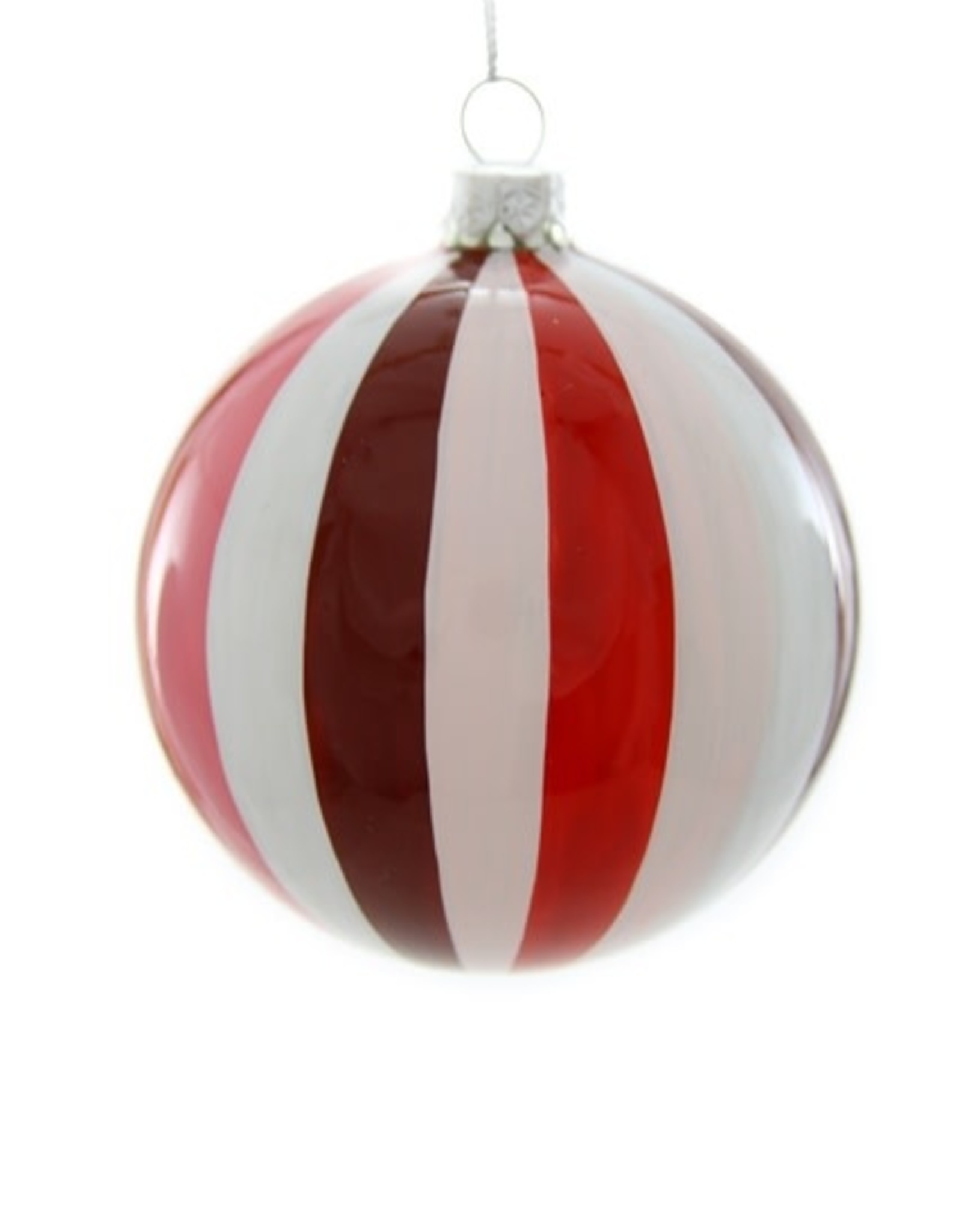 Cody Foster & Co. TONAL PINWHEEL BAUBLE ORNAMENT - RED