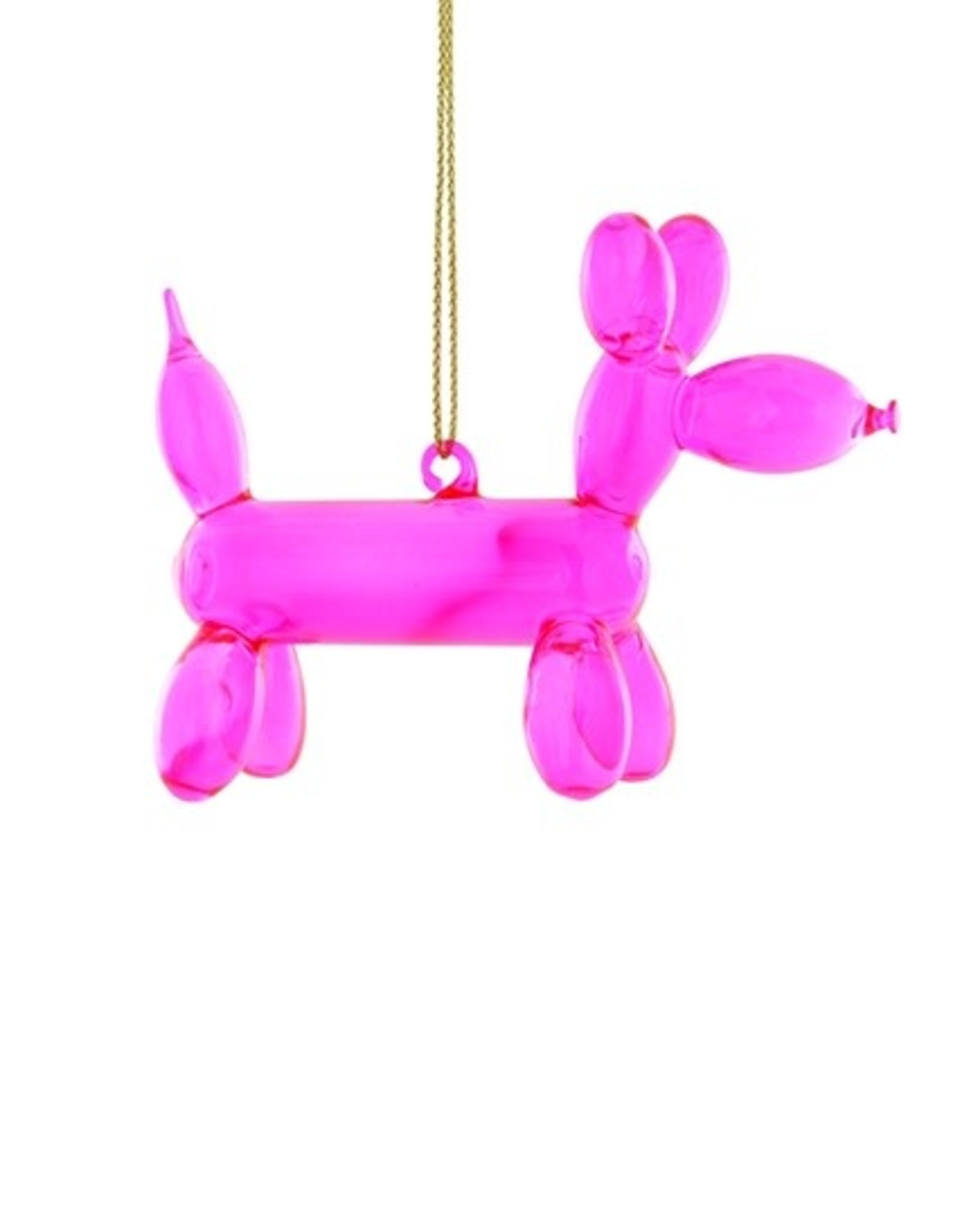 Cody Foster & Co. PINK BALLOON PUPPY ORNAMENT