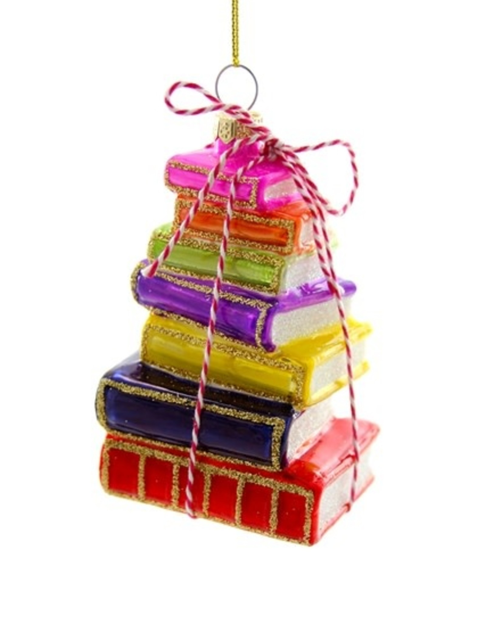 Cody Foster & Co. STACKED TOMES ORNAMENT - BRIGHT