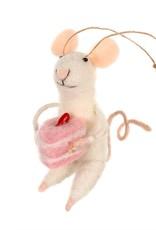 Indaba Baking Bonnie Mouse Ornament