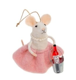 Indaba Rose All Day Mouse Ornament