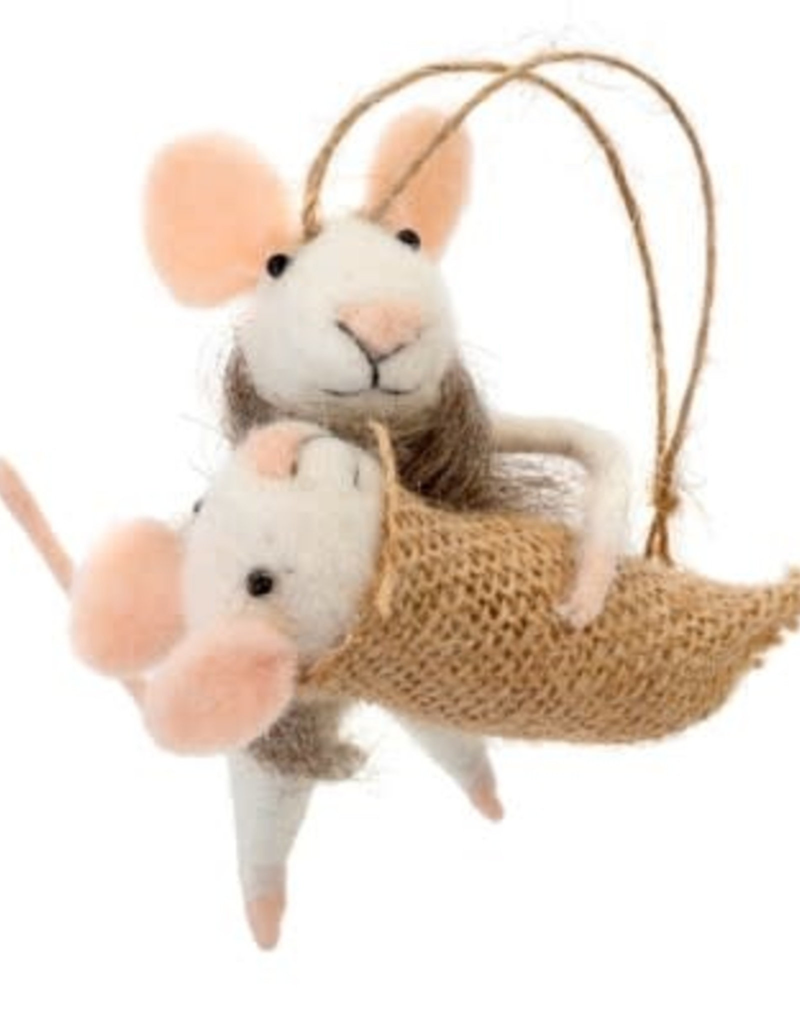 Indaba Mommy + Me Mouse Ornament