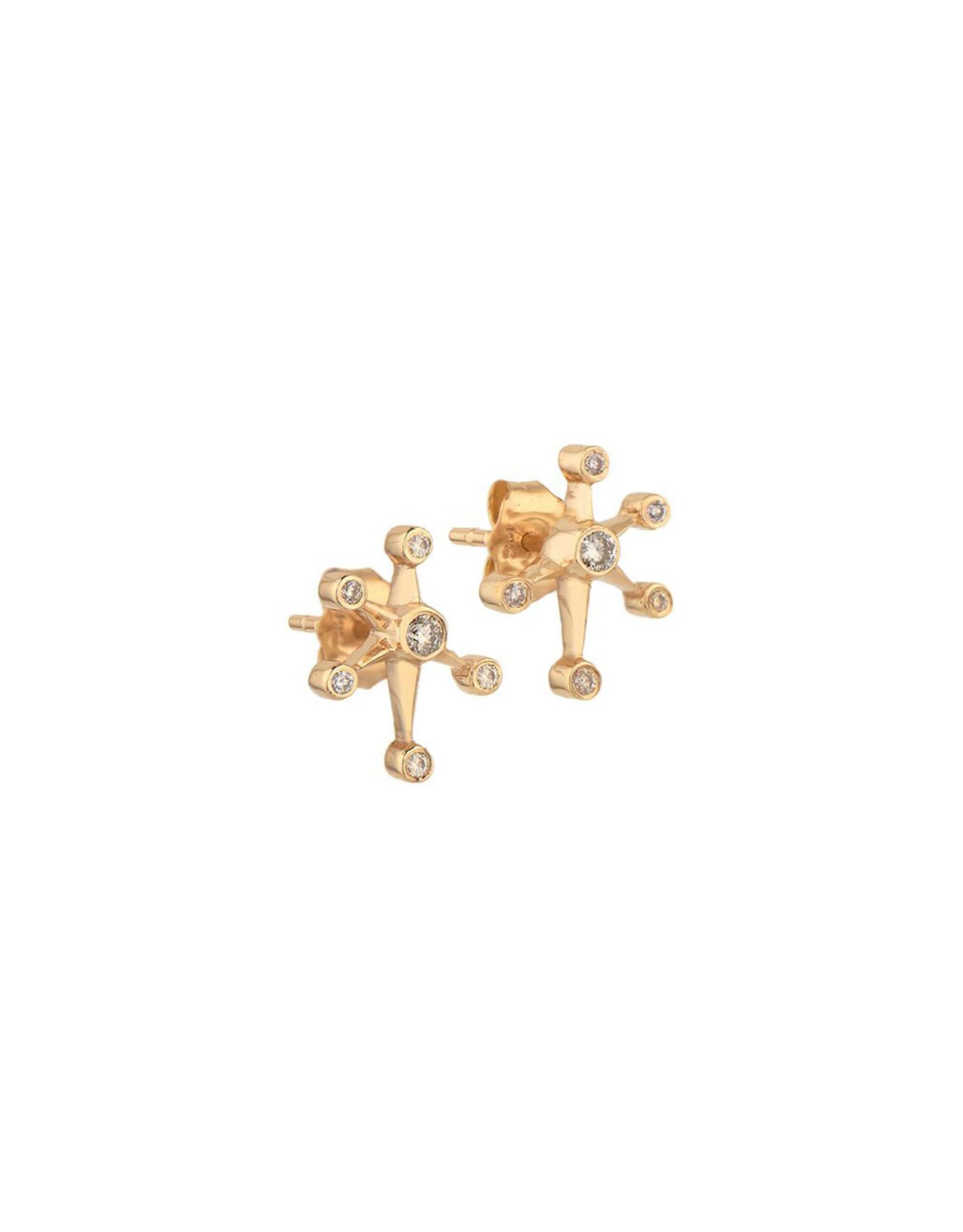 Celine Daoust Small Diamond Constellation Studs