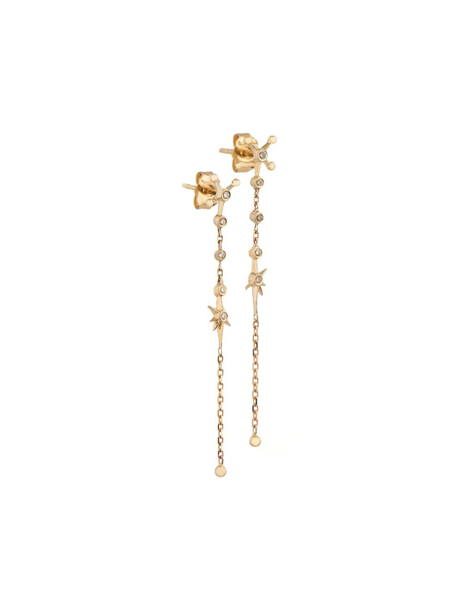 Celine Daoust Diamond Constellation Chain Earrings