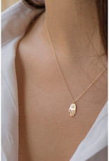 Celine Daoust Mini Dharma's Protection Diamond Hand (Hamsa) Necklace