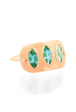 Celine Daoust Triple Marquise Plate Ring - Columbian Emerald