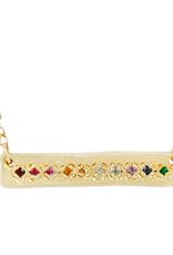 Aili La Fortuna Rainbow Necklace