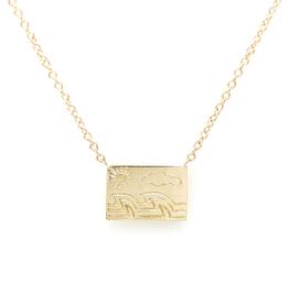 Aili Ocean Postcard Charm Necklace
