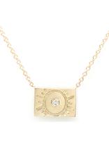 Aili Sun Postcard Charm Necklace