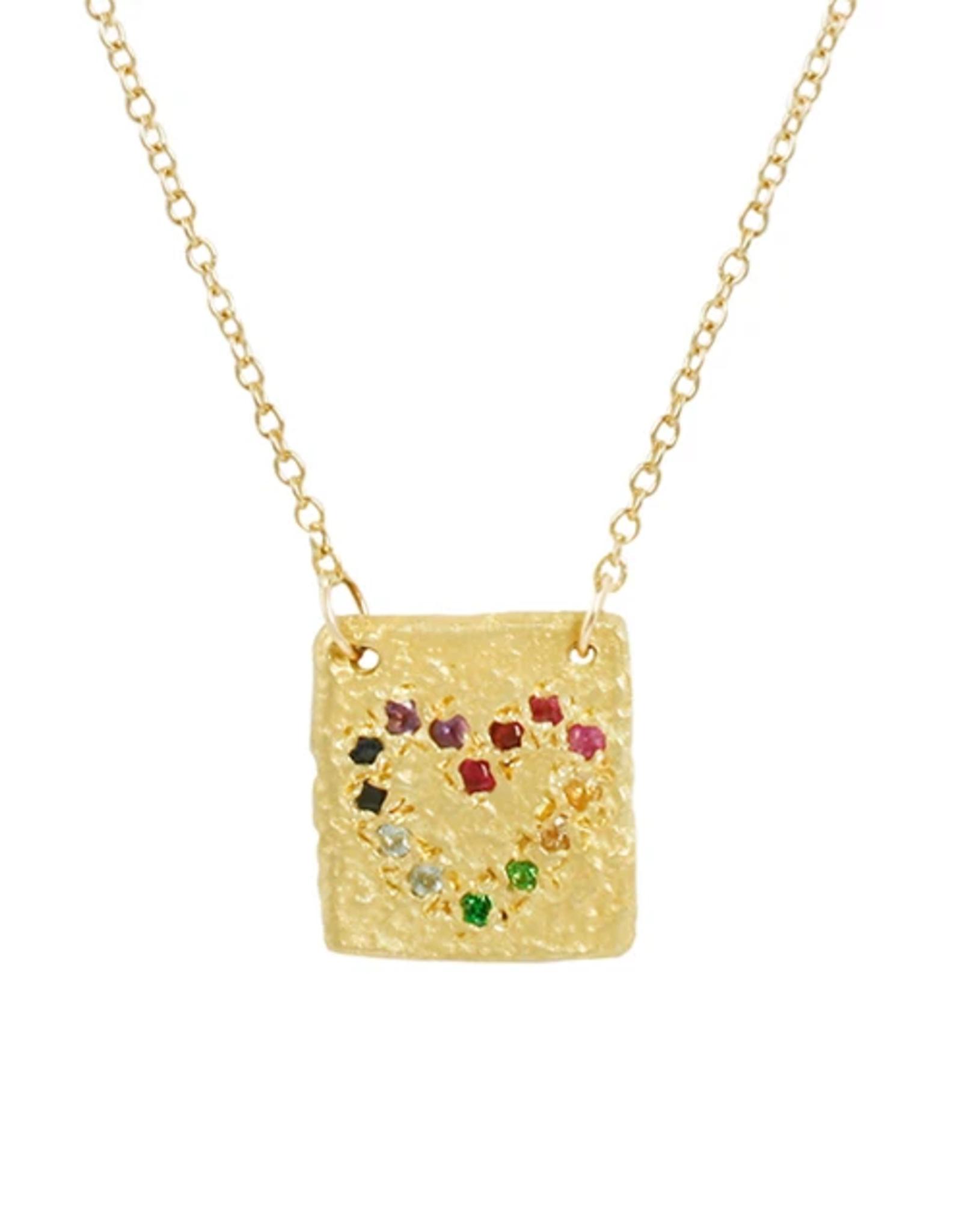 Aili Rainbow Heart Tesorito Necklace