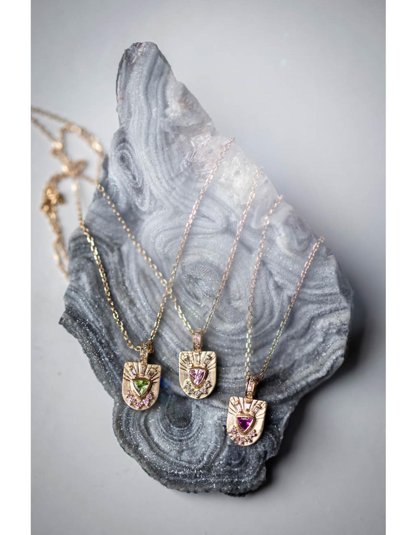 Celine Daoust Little Totem Necklace - Light Pink Tourmaline + Diamonds