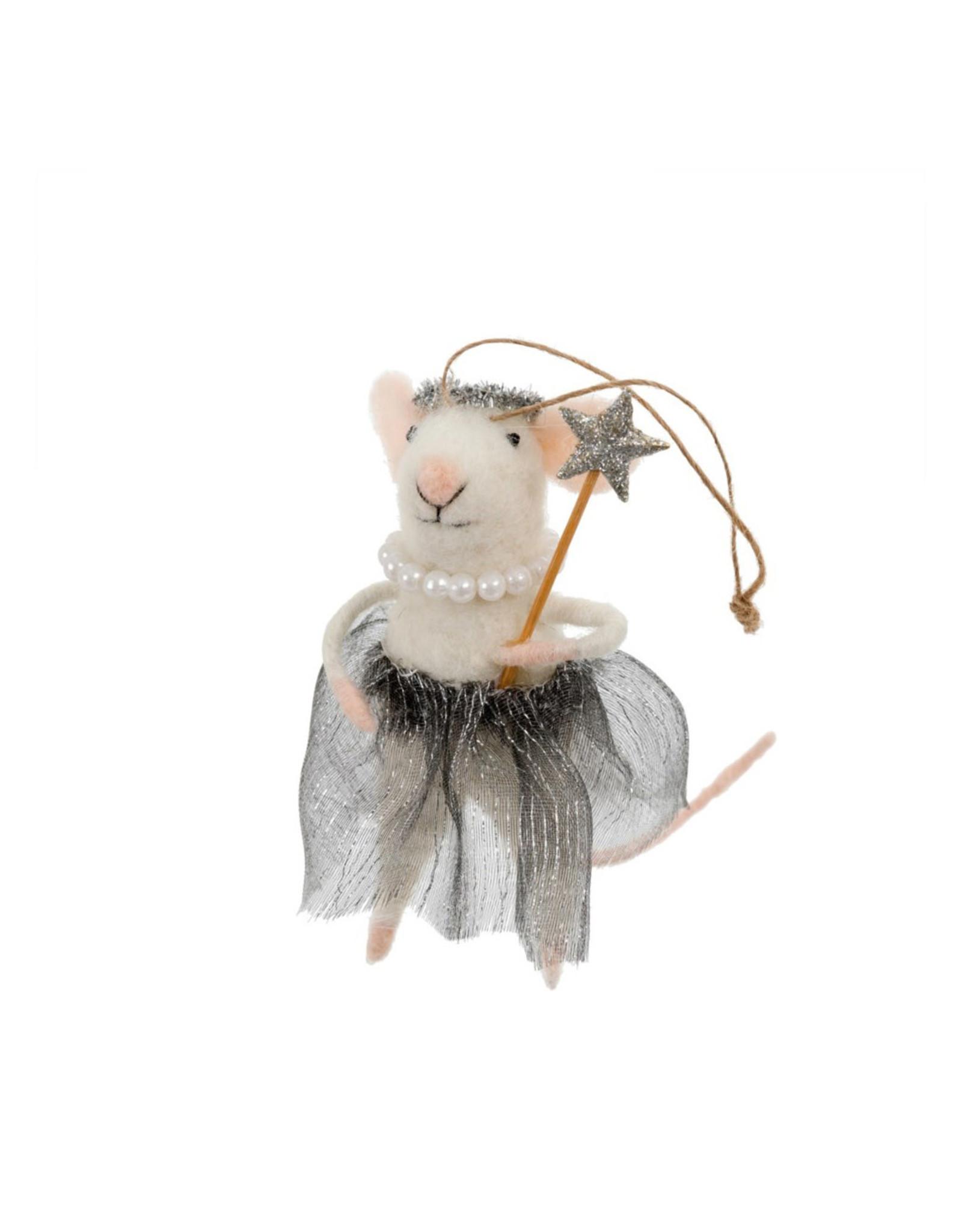 Indaba Ballerina Betty Mouse Ornament