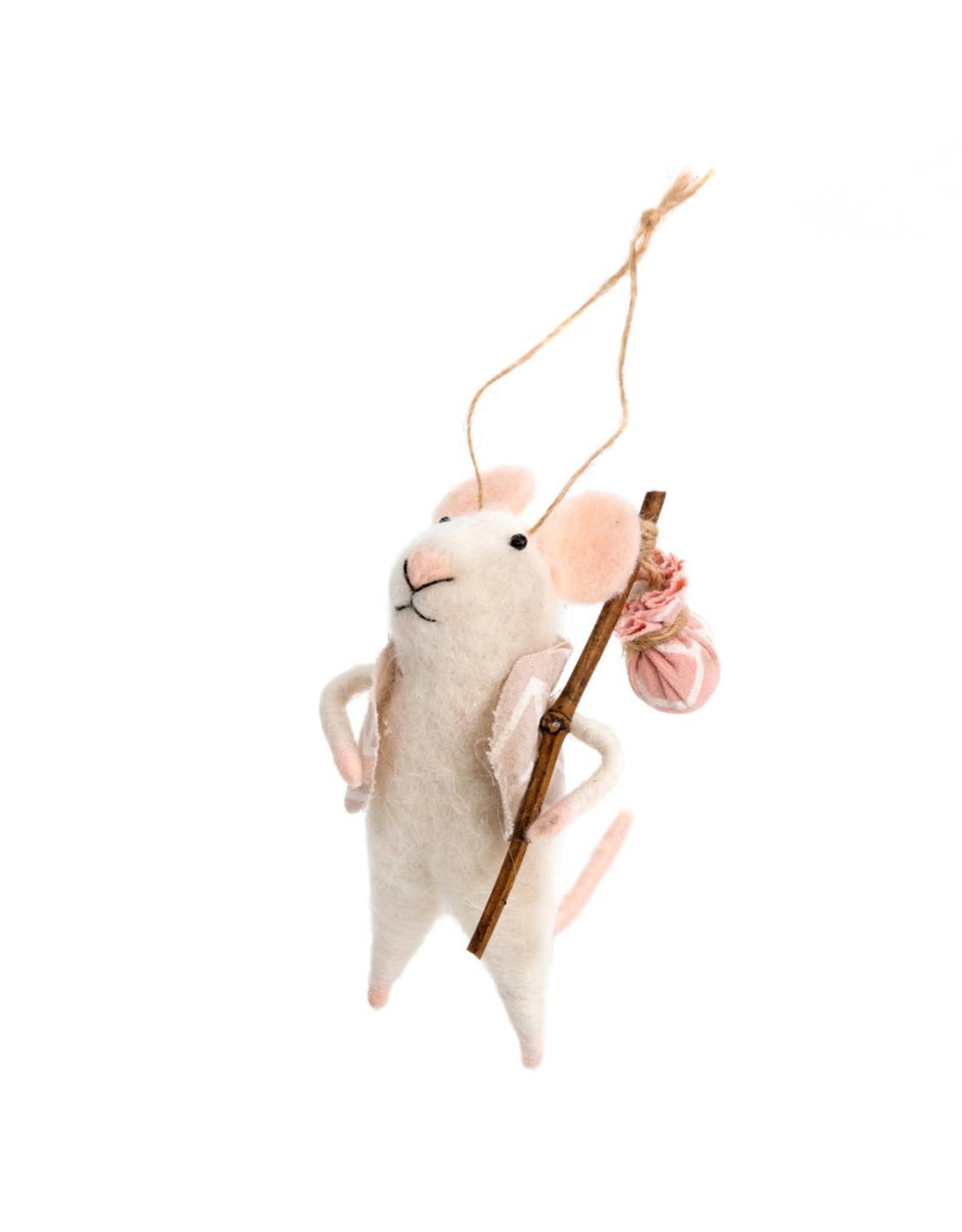 Indaba Nomad Nick Mouse Ornament
