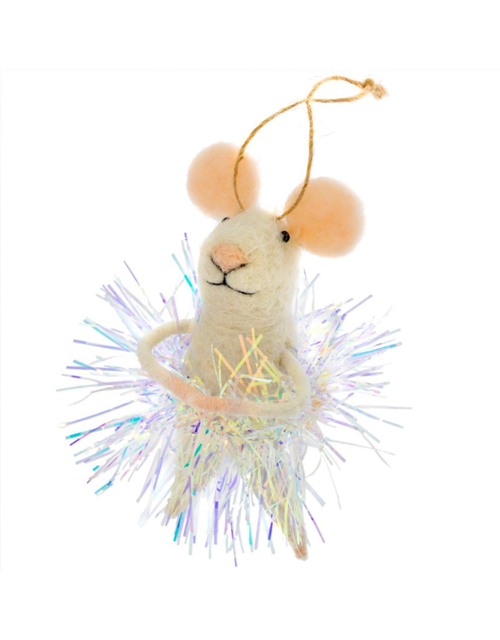 Indaba New Year's Eva Mouse Ornament
