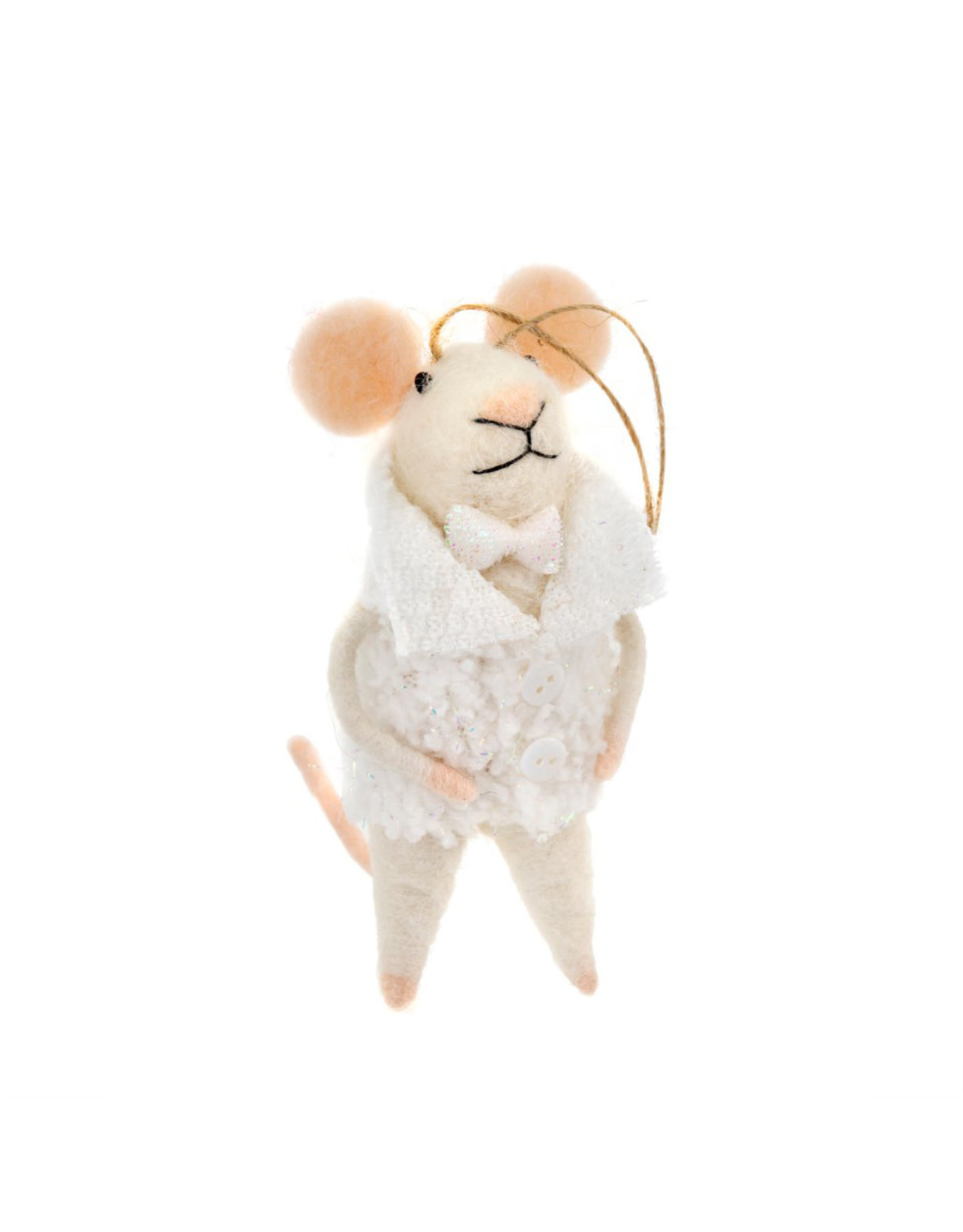 Indaba New Year's Evan Mouse Ornament