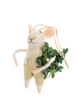 Indaba Holiday Hank Mouse Ornament