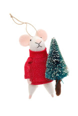 Indaba Tree Trimmer Tom Mouse Ornament