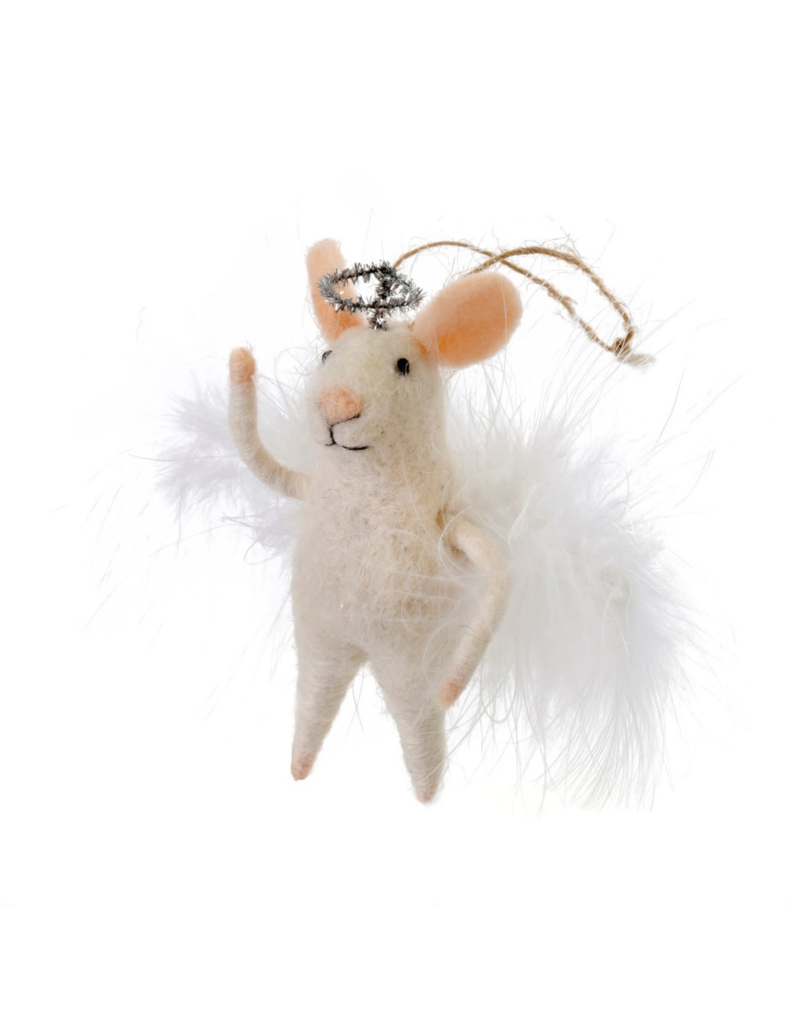 Indaba Angelic Annie Mouse Ornament