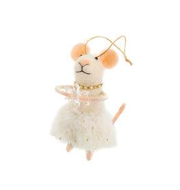 Indaba Miss Clara Mouse Ornament